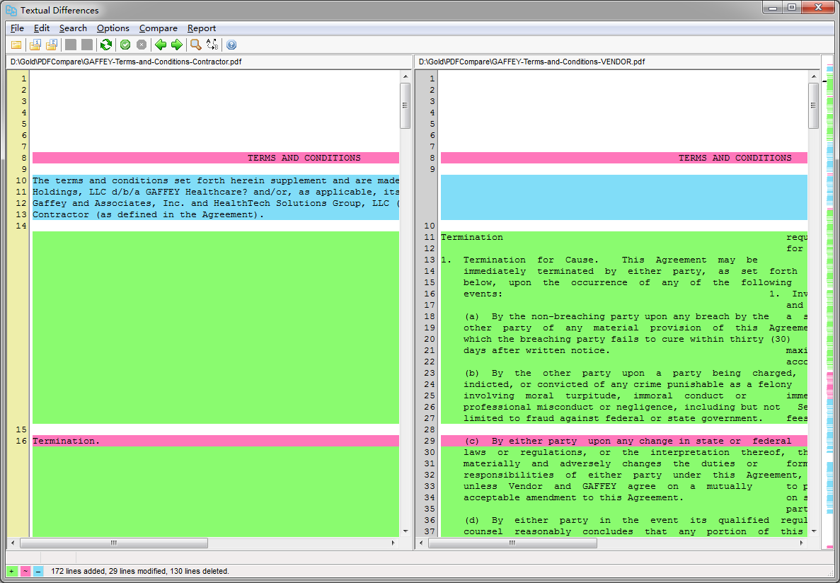 PDF Compare software - compare PDF files, identify changes