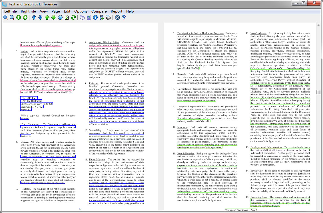 PDF Compare Screen shot