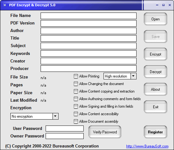 Windows 7 PDF Encrypt & Decrypt 5.0 full